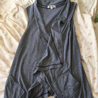 Super Cute Grey Vest - Brand Red Berry