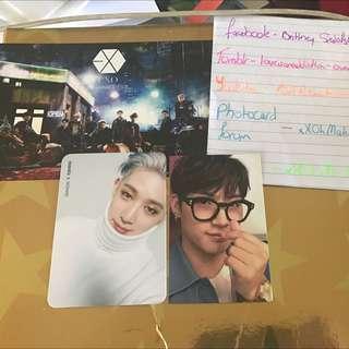 jB Turbulence Taiwan Press Photocard. Wonho Innocent Photocard. Exo Coming Over Postcard