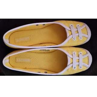 Australian Size 8 Yellow Lacoste Shoes