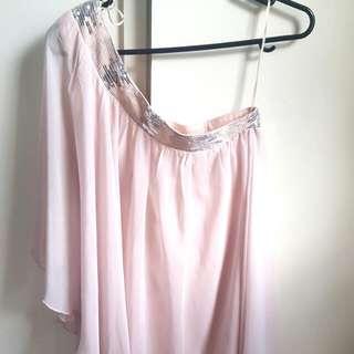 Off Shoulder Pink Dressy Top