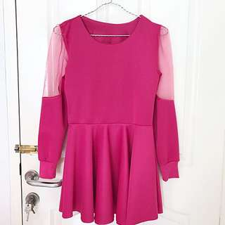 Pink Dress Free Ongkir
