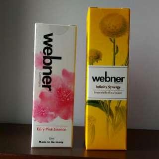 德國webner日夜修護組 不老蠟菊賦活液+抗光敏鑽石淨白抗老精華
