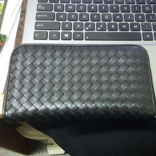Bottega Authentic Bottega Long Wallet (Classic Black)
