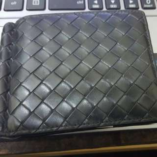 Bottega 100% Authentic Bottega General Money Clip Wallet (Classic Black)