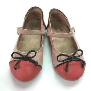 Little Garden 女童瑪珍鞋款皮鞋 蝴蝶結娃娃鞋(內16cm)二手