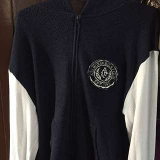 A&F Jacket Authentic | Navy Blue/White