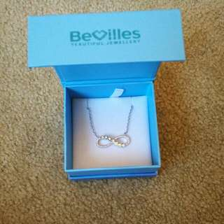 Bevilles Silver Infinity Necklace