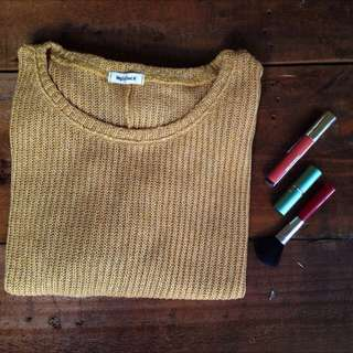 Maple Feel Cereal Yellow Knitted Jumper