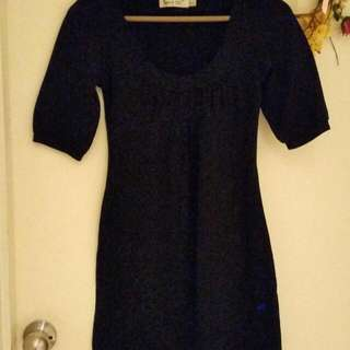 Stretchy A-Line Black Dress