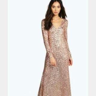 Rose Gold Sequinned Formal Dress - MAKE AN OFFER!!  💰 💰