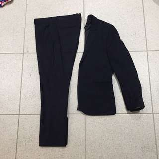 H&M Slim Fit Navy Suit