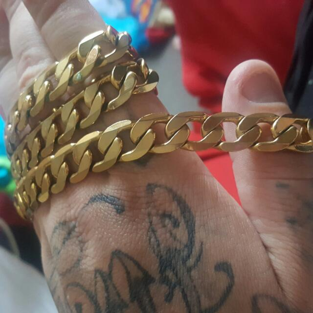 18k filled men's chain