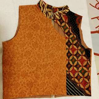 croptop batik laflair