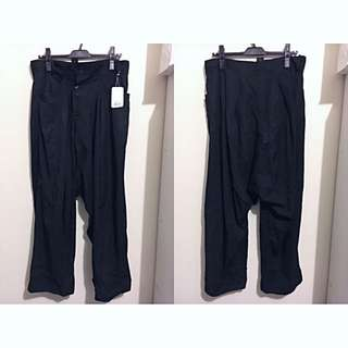 Yohji Yamamoto山本耀司 多釦低檔寬長褲