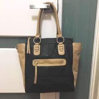 Black & Cream Collette Bag