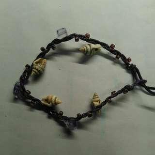 貝殼珠珠紫色手帶~ Shell Bracelet