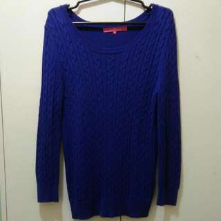 Royal Blue Knitted Sleeves