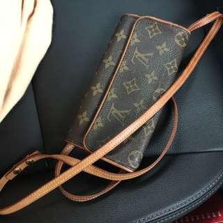 Authentic Louis Vuitton Mini Rectangle Clutch Bag