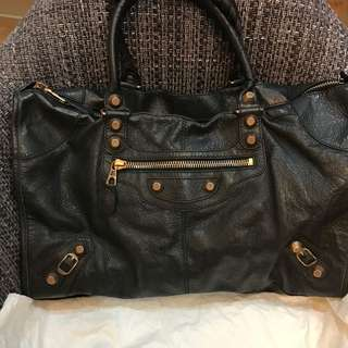 *REDUCED!* Rare Balenciaga Work in Black and Rose Gold Giant Hardware