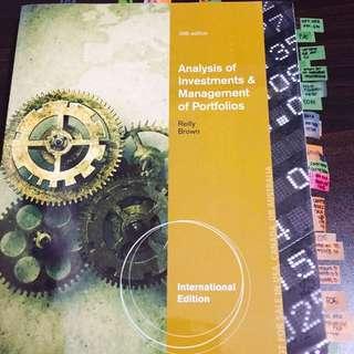 Analysis Of Investment & Management Of Portfolios