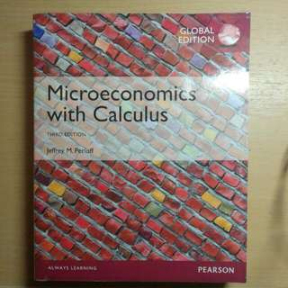 Microeconomics with Calculus Third Edition Perloff