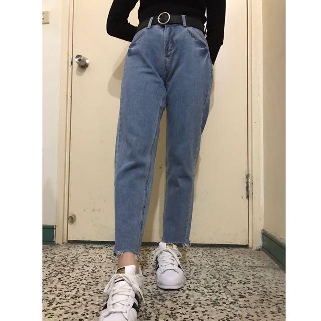 牛仔哈倫褲