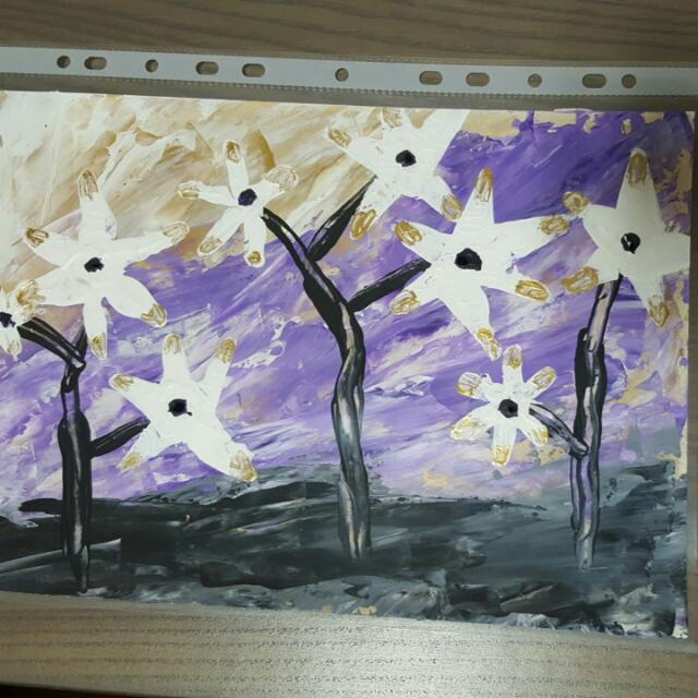 Acrylic Painting Abstract Art Flowers