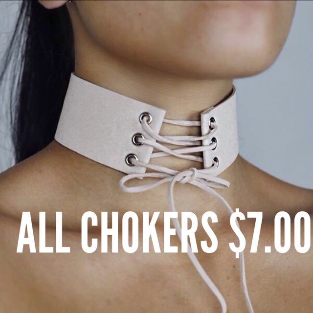 ALL CHOKERS $7.00