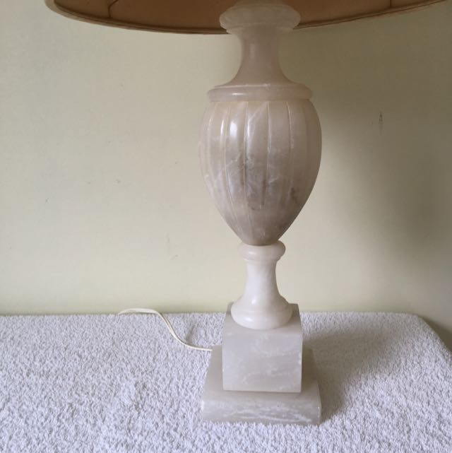 Antique Egyptian Alabaster Lamp Base