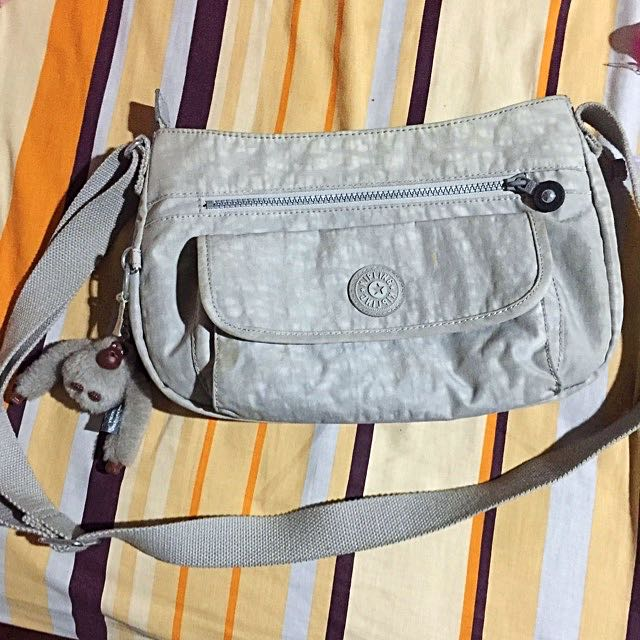 FREE SHIP Kipling Bag Auth Cement Grey