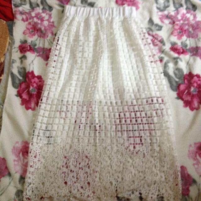 Bangkok Lace Maxi Skirt