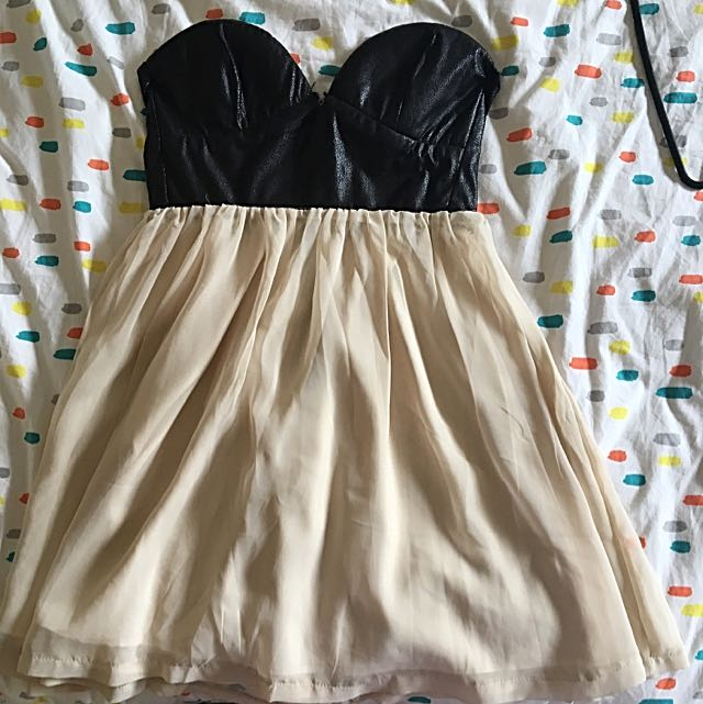 Black And Cream Dress