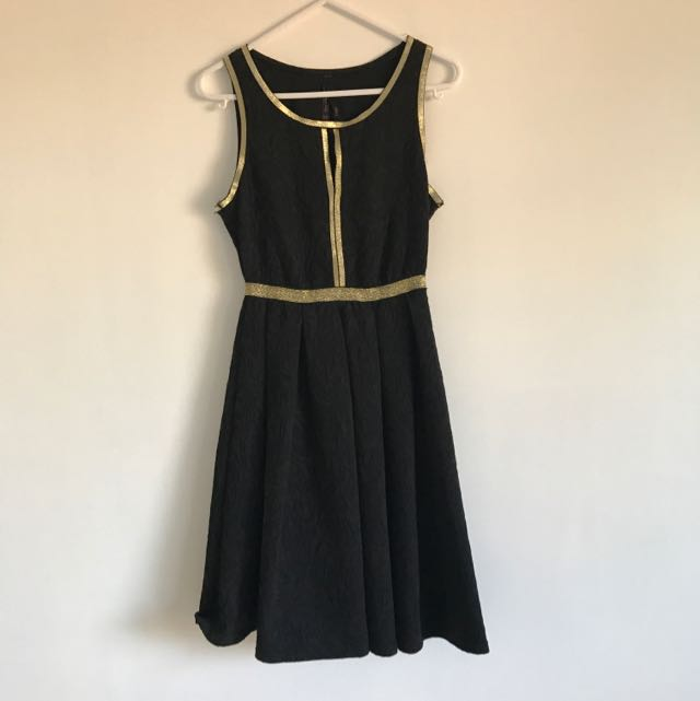 Black And Gold Ally Dress