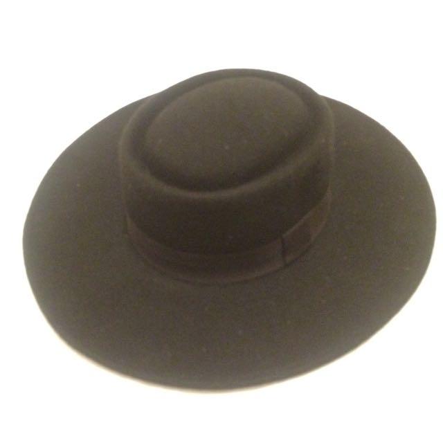 Black Fedora Hat - Flat Rim