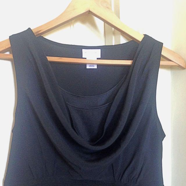 Black Motherhood Maternity Dress Size S