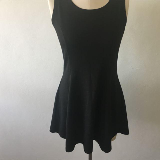 Black Skater Dress Size Medium