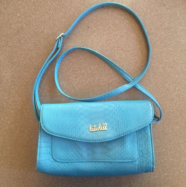 Blue Kate Hill Crossbody Bag