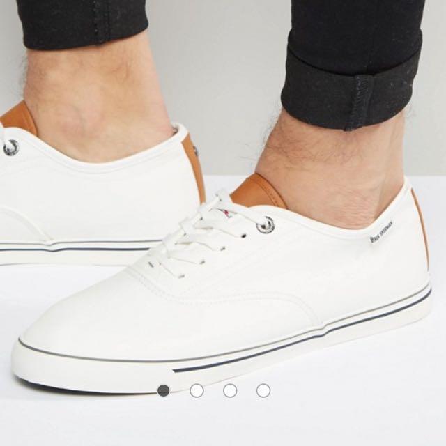 BN Ben Sherman White Tennis Oxford Shoe