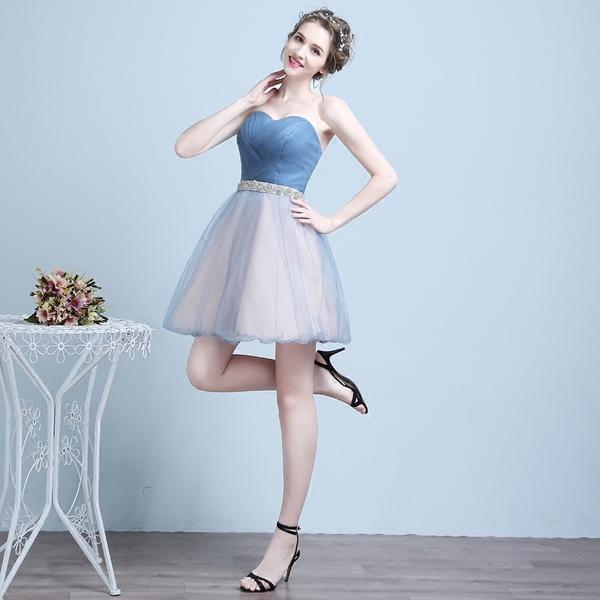 0b7c26ff049f0 Brand New* Quora Wedding Bridal Bridesmaid Sisters Blue /Black Tube ...