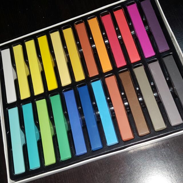 Brand new in box 24 pc Hair chalk..CLEARANCE SALE!!