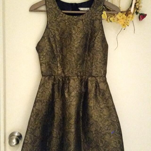 Bronze Embossed Dress (8)
