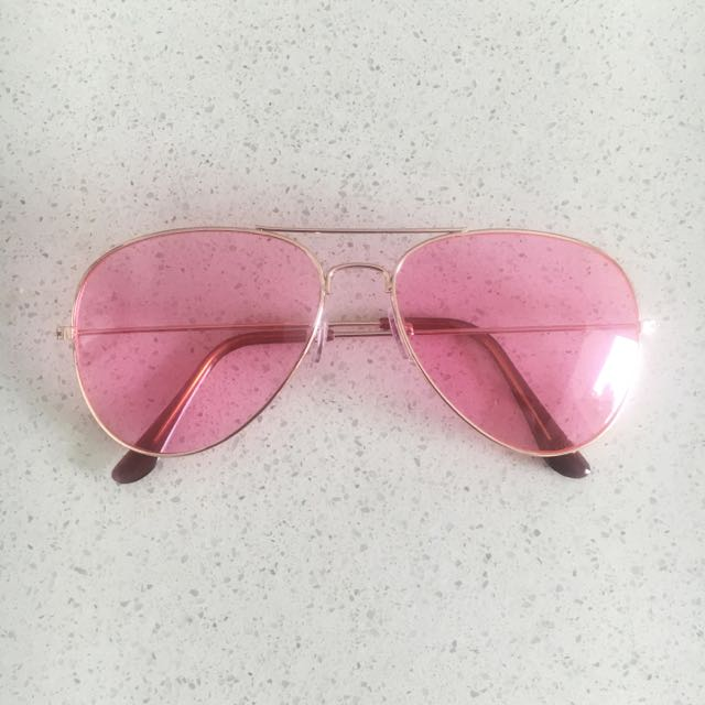 Candy Pink Aviator Sunglasses