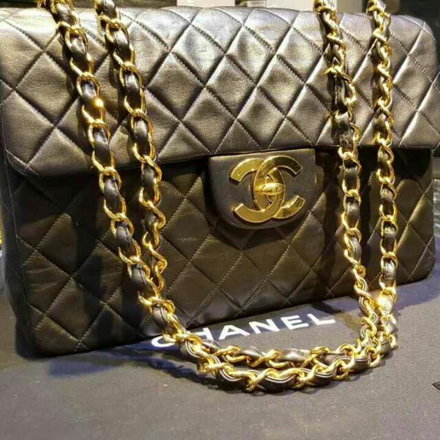 Chanel 古董包 貝嫂包 33公分