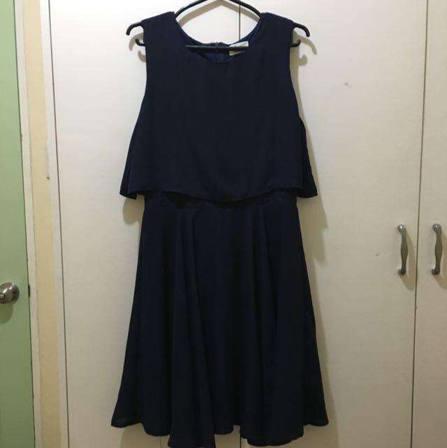 Chill Navy Blue Dress