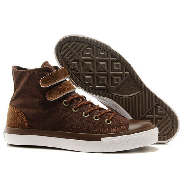 9bc2e3bd1664 Converse  LIMITED EDITION  All Star Brown Double Velcro Classic ...