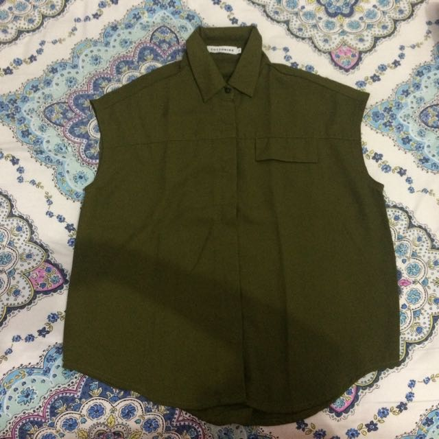 Cotton Ink Army Top
