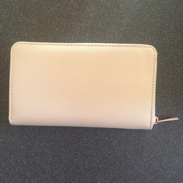 Cream Long Wallet