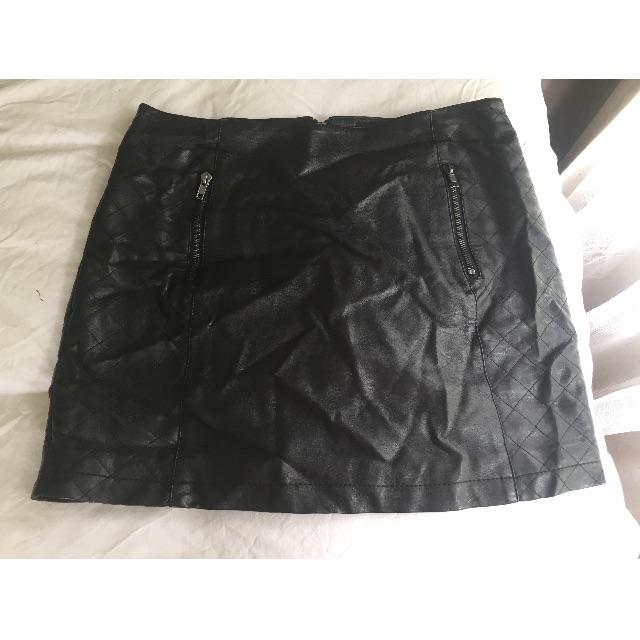 Dotti Leather Skirt - M