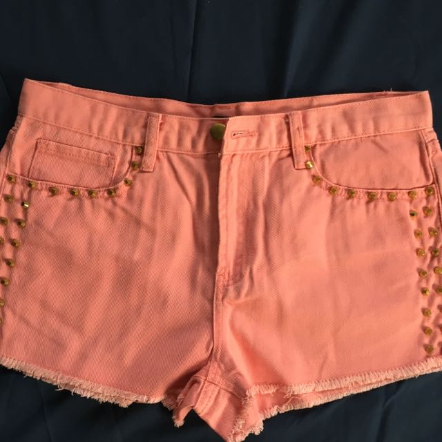 Forever 21 Pink Studded Shorts