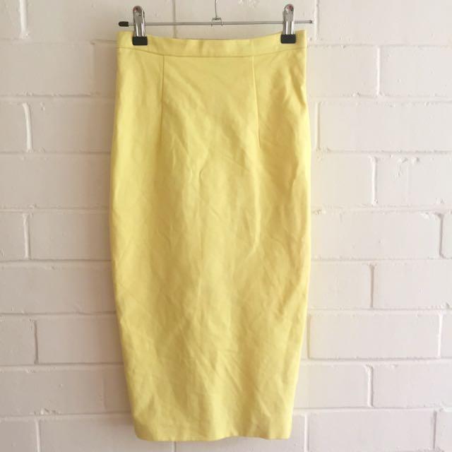Forever New Yellow Skirt